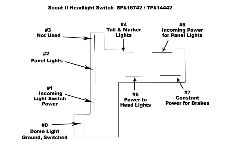 Headlight Switch Kit - Pickup and Travelall (1956-68) A, B, C-Series