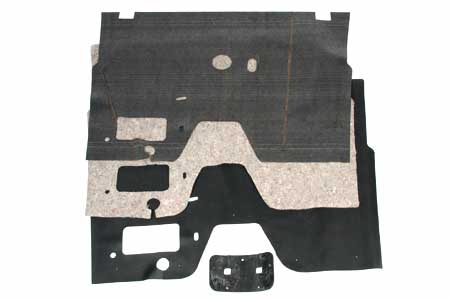 Floor Mat, Sound Deadener, and Pad for Floor Shift L, R & S Series