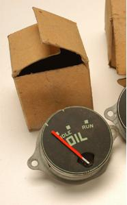 Gauge, Oil, Green Lettering New Old Stock