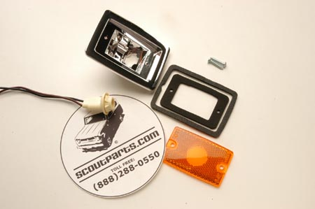 Amber Side Marker Light Housing And Lens