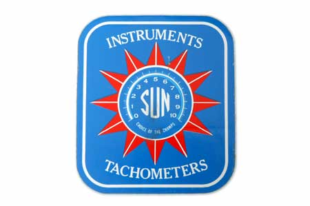 Sun Sticker - instruments tachometers New Old Stock Vintage sticker