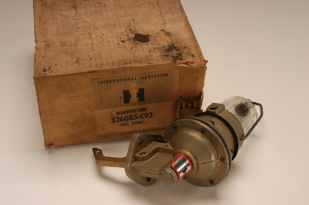 Pickup Non Vacuum Glass Bowl Fuel Pump!  - new old stock