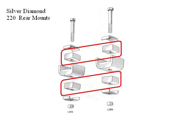 Green/Silver Diamond Rear Inner Motor Mounts