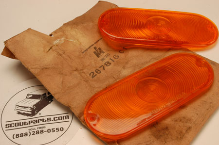 Lens-Turn Signal (1961-68 Pickup, Travelall) NOS
