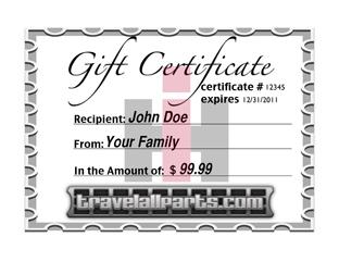 Travelall Gift Certificates