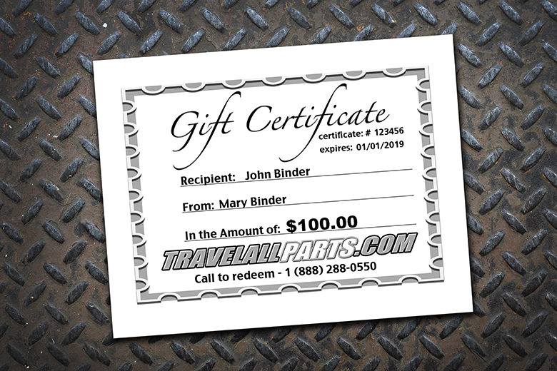 Travelall Gift Certificates - In Any Amount